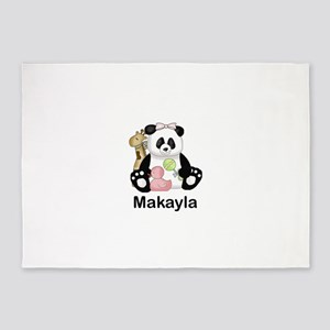 makayla's little panda 5'x7'Area Rug